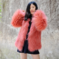 CX-G-A-197B Korea Ladies Fashion Knitted Raccoon Fur Jacket