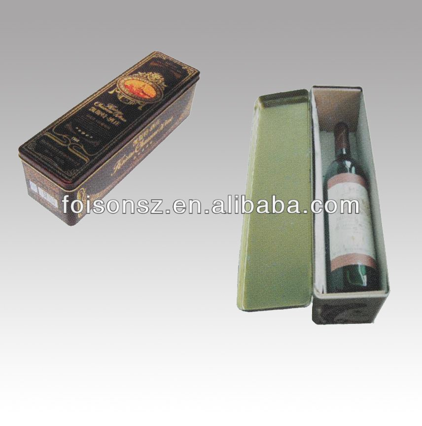 good quality promotional gift red wine tin tube