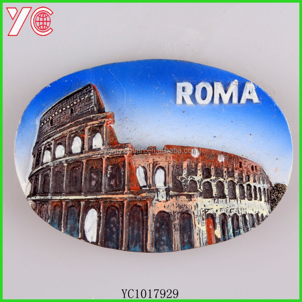 YC1017929 roma building sheet fridge magnet polyresin souvenir
