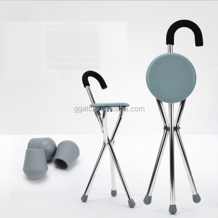 Portable CE and ISO Certificated Walking Cane Seat,Folding Cane Seat ,Easy To Operate
