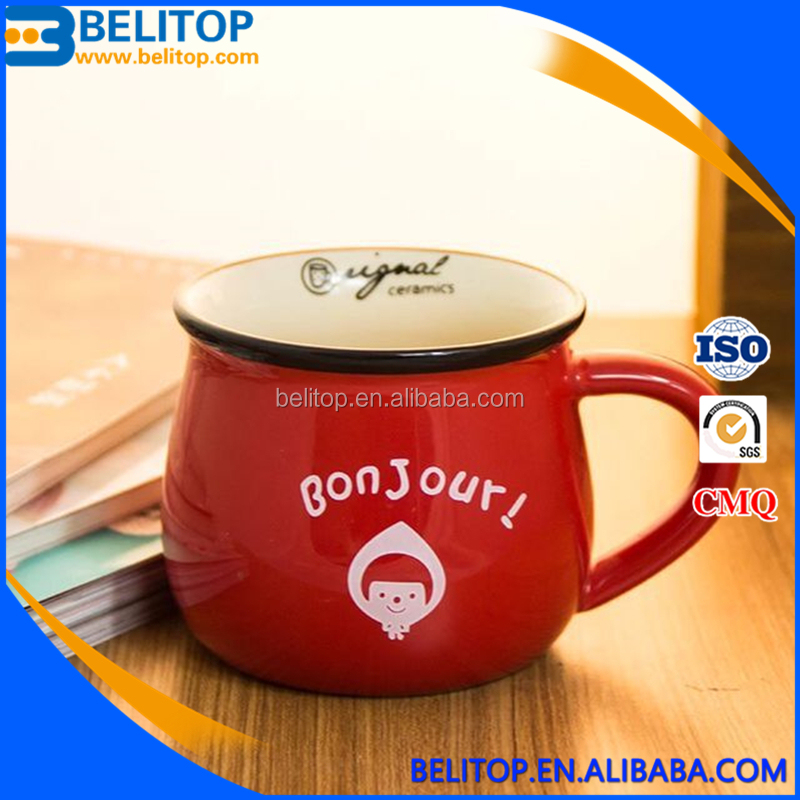 Hot Selling Creative Milk Mugs Cups Custom Printing Coffee Cup <strong>Ceramic</strong>