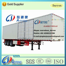 Best Selling NEW Van Type Station 2 Axles 35ton Transport Wagon Truck Semi Trailer(Customized Available)