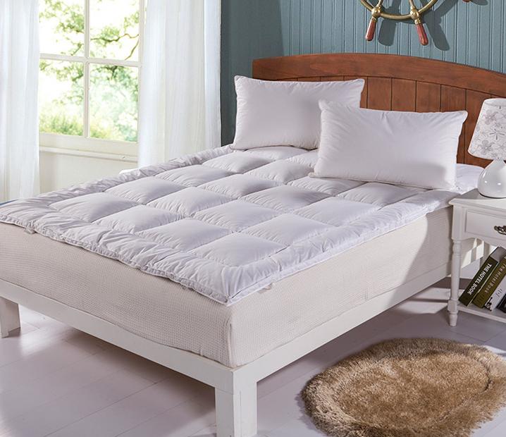 Queen Size Hypoallergenic Polyester Down Alternative Fiber Bed Mattress Topper - Jozy Mattress | Jozy.net