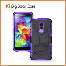 Factory with kickstand hybrid for samsung galaxy s5 mini mobile phone case