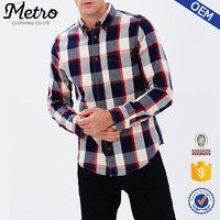 OEM Service Custom Fahsion Men's 100% Cotton Shirt