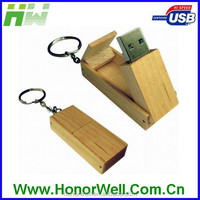 Natural Usb Wooden with Customized Logo