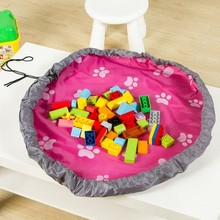 Hot Sale Fashion Practical Children Toys Play Mat Portable Kids Toy Storage Bag S Size