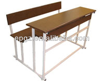 Incroyable Wooden Three Seater Desk Chair, Classroom Three Student Desk , Three Seats  Table And Bench