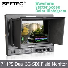 7 inch monitor hdmi with dual SDI input output vetor scope RGB histogram mirror image