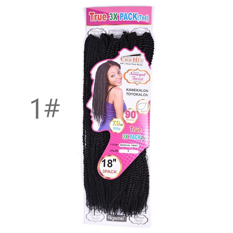 Fashion Ture 3 Pack 7 OZ Crochet Synthetic Hair Senegal Twist