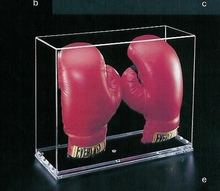 clear acrylic boxing glove display storage box