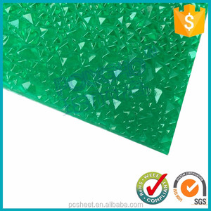 diamond shaped tile sabic 100% virginal materials extruded polycarbonate embossed sheet 3mm thick