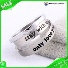 <strong>Stainless</strong> <strong>steel</strong> silver couple ring 'only love' knuckle ring gay engagement rings jewelry <strong>J1</strong>-0119