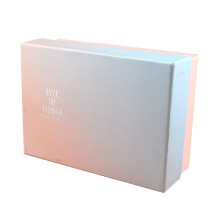China rectangular cardboard box packaging custom printed white bali paper box