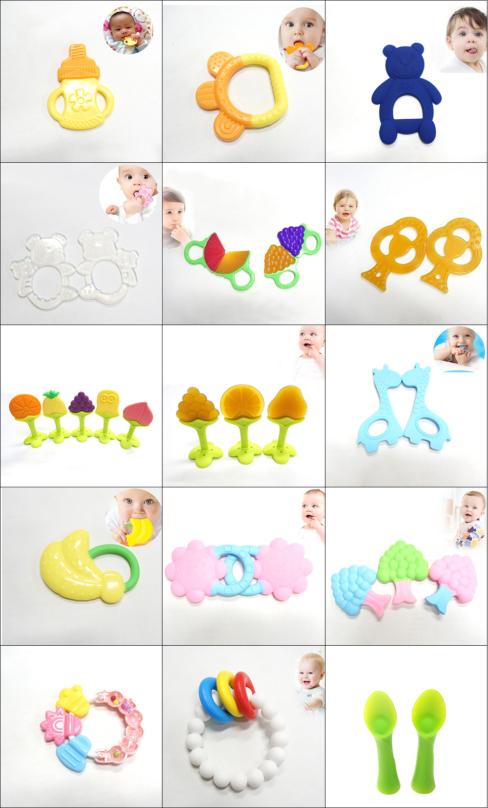 Unique design teething toys bpa free silicone camera teether