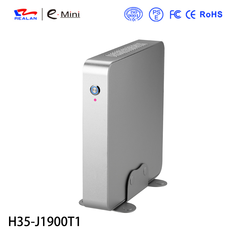 Free shipping cheaper vertical mini PC support Intel Celeron J1900 Quad Core+8GB RAM,HDMI thin client with footstands.