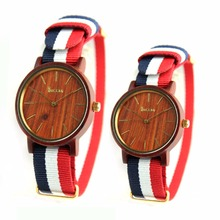 2018 fashion brand bamboo wooden watches for men and women import wood couple watches
