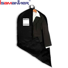 Custom garment bag duffel 210D nylon foldable garment bags for suits with ID card holder
