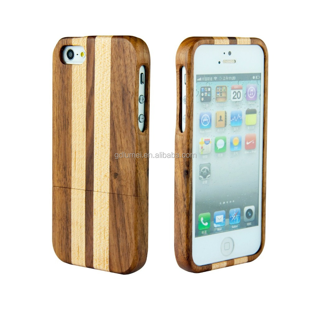 2016 Stylish Handmade Natural Hard Wooden Case for iPhone 5 5S Cover