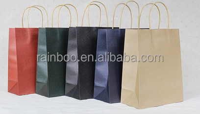 Hot selling OEM customized cheap recycled paper shopping bag for promotional gift