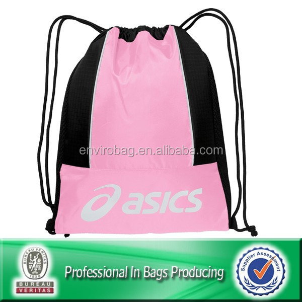 recycled 210d nylon drawstring women sling bag