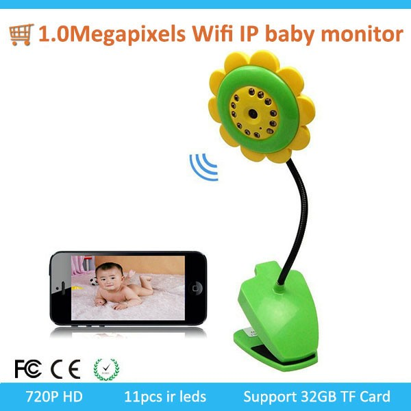 H.264 Mini and hidden 1.0Megapixels Wifi IP baby monitor DIY Home Security camera