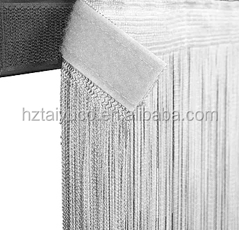 Polyester Din 4102 B1 flame retardant spaghetti curtain with velcro