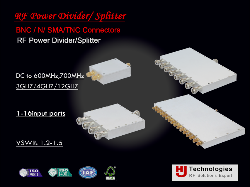RF CDMA Router Splitter Radio frequency 600 MHz, 700 MHz to 3 GHz, 4GHz, 6GHz,12GHz, 18GHz 2 Way SMA Power Divider 10W