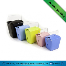 Eco-friendly hot box food container/take out box with handle