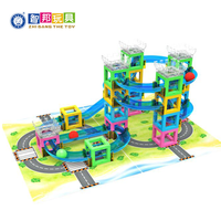 30-70 Pieces Educational Track splice Rolling ball Building Blocks For Preschool Children