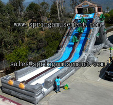Long pvc type inflatable slip and giant slide SP-SL129