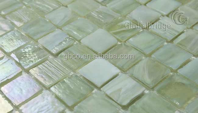 antique broken colored glass tile piece for mosaic