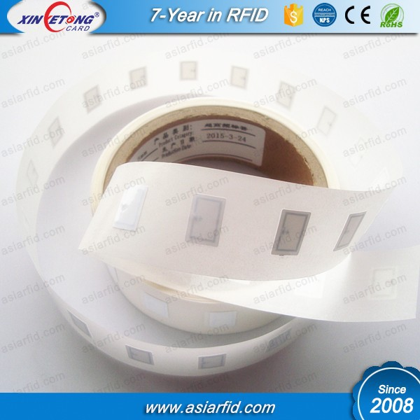Bulk 15*20mm NTAG203, NTAG213, NTAG216 Paper NFC Sticker/ Adhesive NFC Tag in Roll, ISO14443A, 13.56Mhz, China Manufacturer