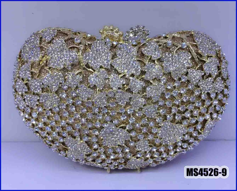 MS4526-9 Italian new fashion design women's crystal purse africa rhinestones purse for party