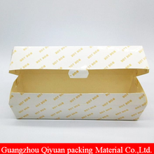 Wholesale Custom Print Cheap Price Disposable Food Grade Wax Coated Hot Dog Paper Box