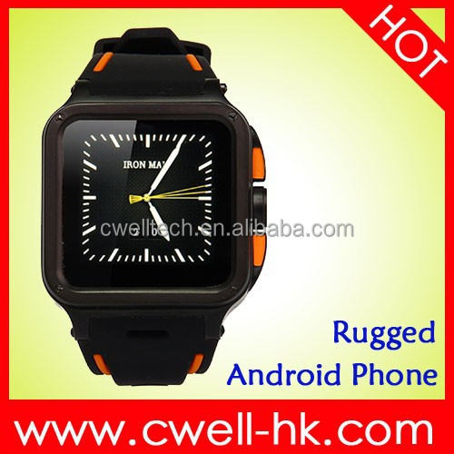 UNOVA IRON MAN IP67 Waterproof Cell Phone Watch 1.54 Inch Corning 2 Glass IPS Screen 3.0MP FF Camera WIFI GPS
