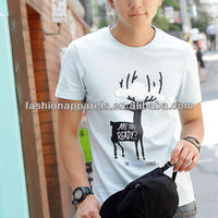 Fashion Deer Printed T-shirt Short-sleeve