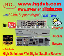 S930A south America Nagra3 digital satellite receiver with dongle built in s930a TV receiver Decoders
