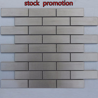 Subway stainless steel mosaic tile in stock promotional
