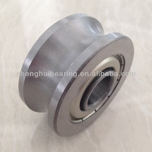U Groove Track roller Bearing with Gothic Arch Grooved Outer Ring for Linear Motion System