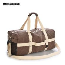 2018 New Waxed Large Capacity Cotton Canvas Travel Duffle Bags