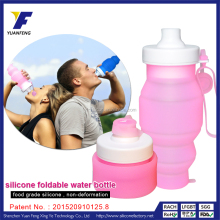BPA free silicone OEM foldable water bottle , compressible sport water bottle ,sport water bottle
