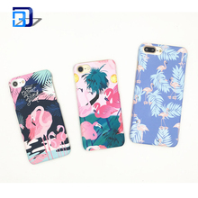 Phone Case, Shockproof Floral Tropical Plants Flamingo Printed PC Hard Matte Mobile Phone Case Cover for Iphone 7 8