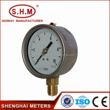 Cheap bourdon tube type sedeme pressure gauge