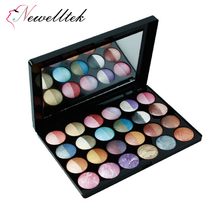 OEM Beauty makeup palette 24 color delicate flower colorful baked color palette glitter eyeshadow palette
