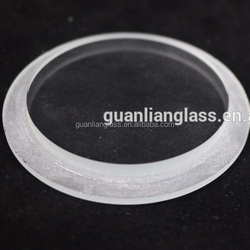 10mm round recessed light cover use tempered ultra clear step glass
