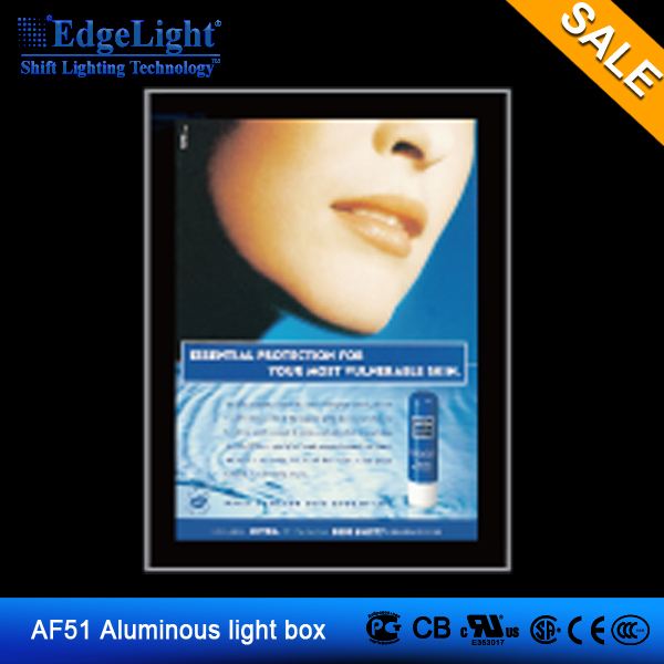 EdgeLight AF51 waterproof advertising light boxes double to display