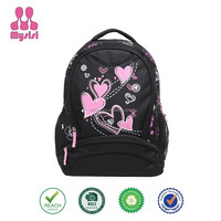 Girl's Lightweight Polyester Patterns Back to School Backpacks Beautiful Pringting Shoulder Bags