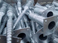 Galvanized Pole Anchor Factory/Screw Ground Anchor for Solar Energy
