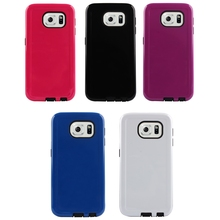 Pure color concise phone cover , combo case ,phone accessories for SAMSUNG S6